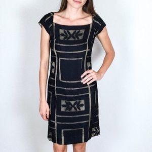 Vintage Black 50's Lace Wiggle Dress size s